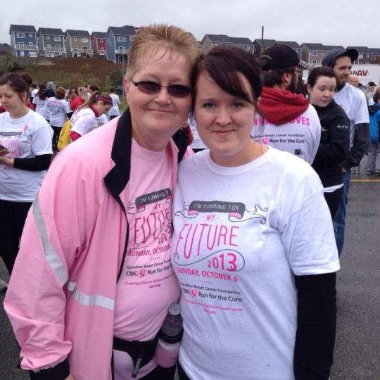 Mom & I 2013 Run for the Cure